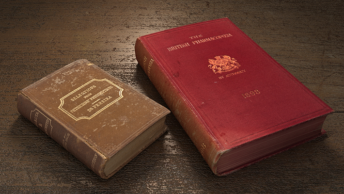 render of two books